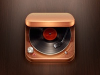 Record Player iOS Icon