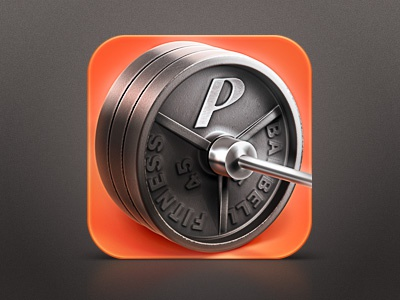 Physique iOS Icon ios icon iphone metal barbell weight training weightlifting powerlifting.