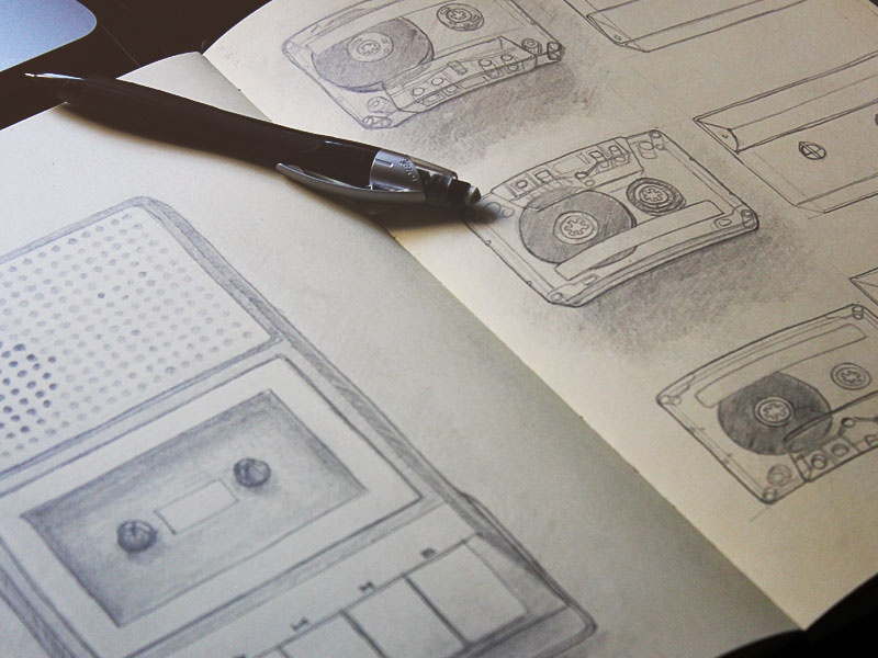 Cassette player project sketch hres
