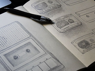 Cassette player project sketch