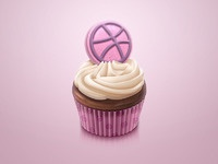 Dribbble cupcake icon hres