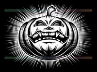 Pumpkin Smiling Halloween Harrasment Horror Spooky Hand Drawing