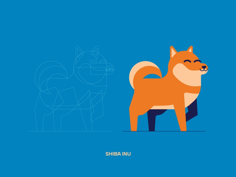 Vector Breeds (Shiba Inu) dog illustration breed shiba inu dog vector graphic design digital art mascot character design illustrator illustration vectors