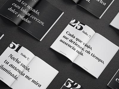The Book of Haiku editorial layout digital art typography branding vector graphic design typeface diagramming book layoutdesign layout editorial editorial design