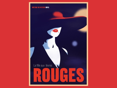 Writing The Mystery Novel (Lèvres Rouges) editorial illustrator design typography vector illustration vectors graphic design editorial layout editorial design editorial art print editorial illustration