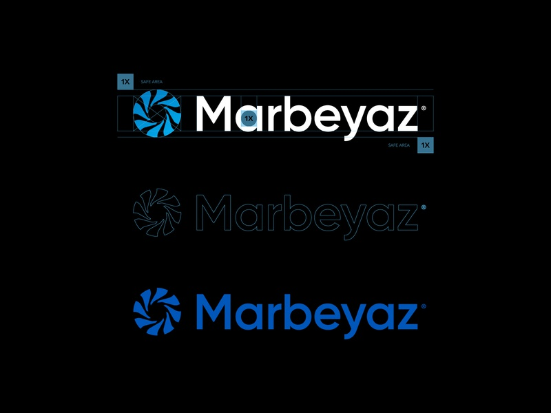 Marbeyaz® Logotype visual identity vector typography logotype icons icon logo grid golden ratio design branding agency branding brand identity brand font
