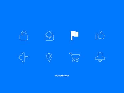 Mylocalstock iconography brand design identity branding photostock graphicdesign vectors icon set icon design iconography icon