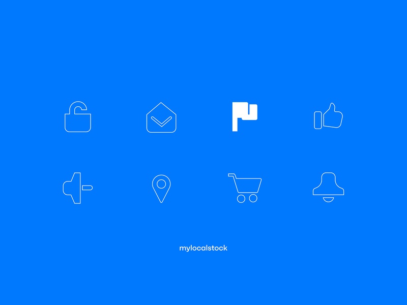 Mylocalstock iconography brand design identity branding photostock graphicdesign vectors icon set icon design iconography icon