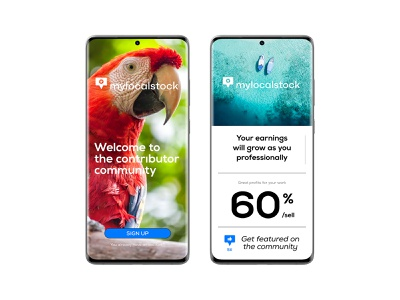 mylocalstock contributors UI application typography photography screenshots log in form brand app design uidesign uiux branding