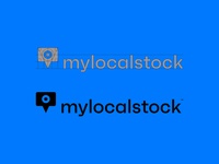 Mylocalstock logotype ux ui app typography vectors graphic design camera location pin photography branding agency branding concept icon logotype logo identity brand design branding