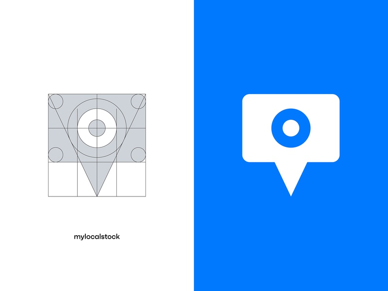 Mylocalstock brandmark branding design logo grid grid vectors vector illustrator location pin photo stock camera branding concept branding agency logo design brandmark logotype logo typography brand design branding