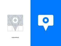 Mylocalstock brandmark branding design logo grid grid vectors vector illustrator location pin photo stock camera branding concept branding agency logo design brandmark logotype logo typography brand design branding