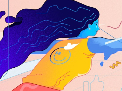 Illustration details lineart woman illustration photoshop brush hair woman typography mascot digital art character design vector illustrator branding illustration vectors graphic design
