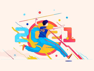 2021 Illustration olympics sports running color palette colourful art colourful digital art photoshop illustrator character design branding vector illustration vectors graphic design