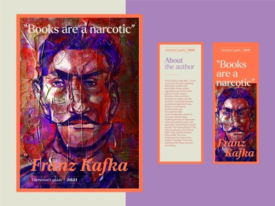 Franz Kafka Editorial photoshop procreate art procreate digital art typography illustrator branding illustration graphic design editorial illustration editorial design editorial art