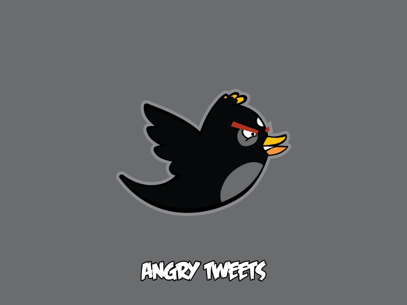 Angry Birds Black By Frank Sandres Dribbble - Famous logos redesigned as angry birds characters