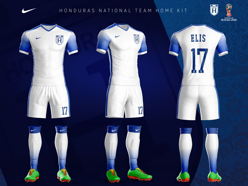 b3d917a841f Honduras National Team Home Kit (Nike concept) by Frank Sandres ...