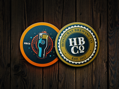 Honduras Brewing Co. Brandmarks photoshop illustrator digital art vectors craft beer beer honduras brewing co honduras hbco