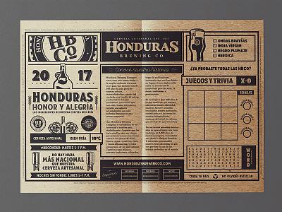 HBCo. Table mats brandmarks table mats beer craft beer brewing brewery hops vectors graphics honduras honduras brewing