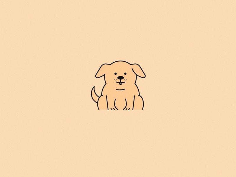 Golden Doggy design graphic design mascot character design illustration vector vectors