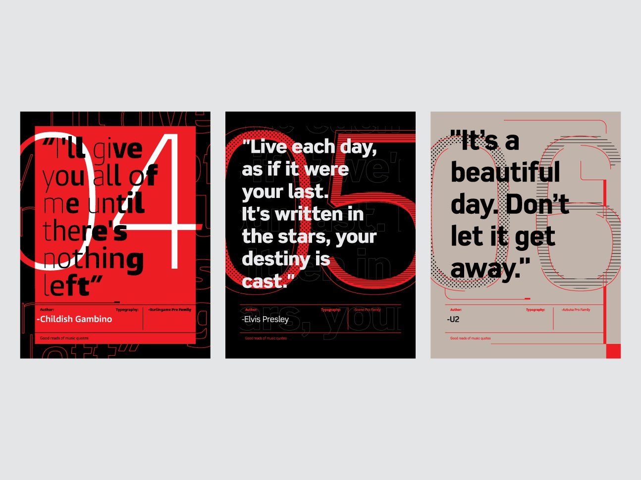 Music Quotes Posters 2 By Frank Sandres Dribbble Dribbble