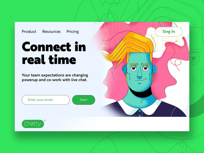 Chatty Pop Up UI (03) by Frank Sandres on Dribbble