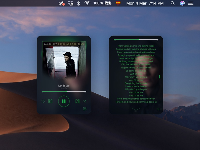 Spotify® Mini Player concept for Mac by Frank Sandres on