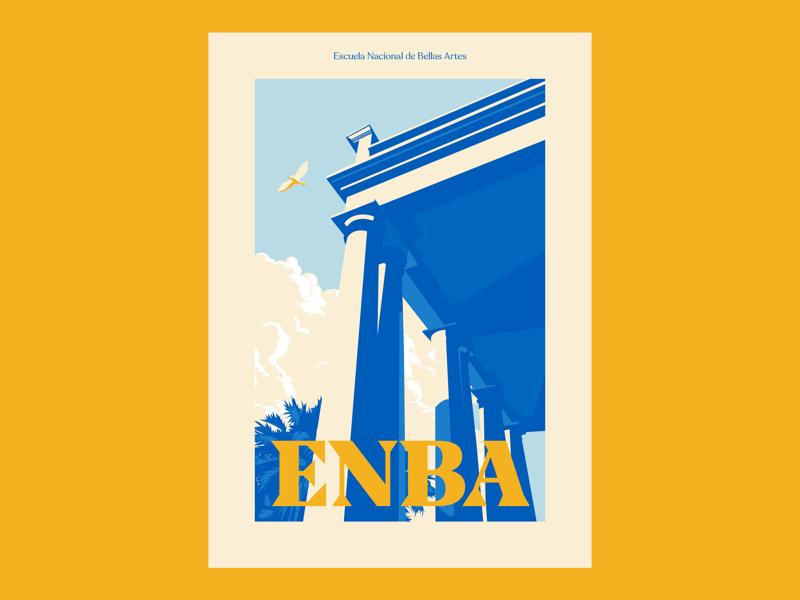 ENBA poster perspectives architecture building enba honduras poster print graphic design vector illustration illustrator