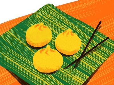 Baos texture buns food adobe fresco illustration