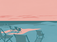 The last of the sun parnu estonia vector sunset sun beach illustrator design illustration