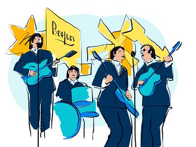 The Beatles in Hamburg kiez band music red light district st pauli reeperbahn hamburg beatles design illustration