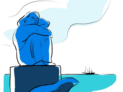 Madonna of the seas maritime st pauli sailors blue port hamburg design illustration