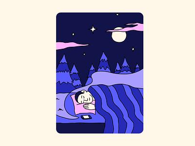 Sleep Stories calm anxiety story sleep story sleepstories sleep design vector illustrator adobe fresco illustration
