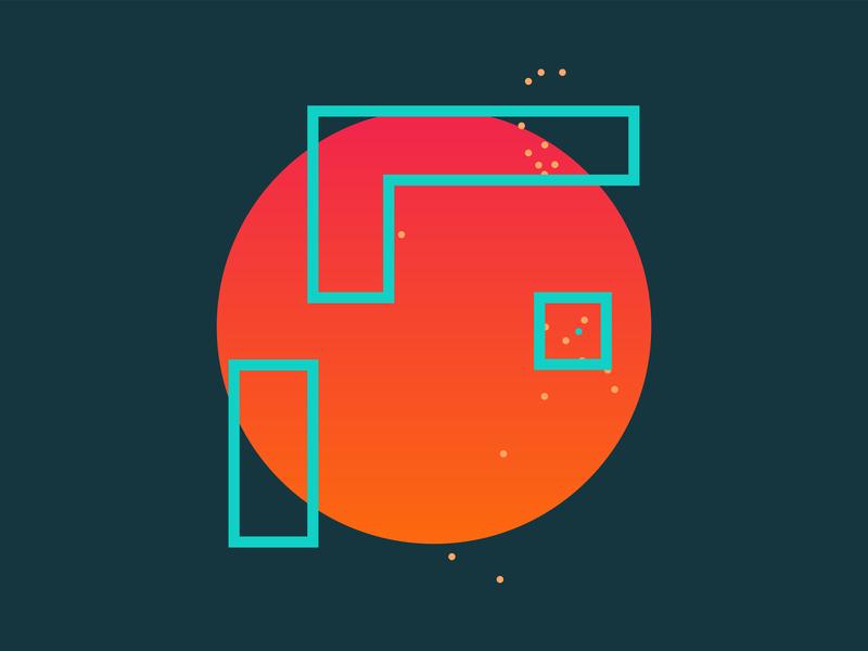 F for Fjord vector design illustration