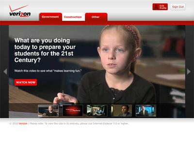 Verizon Business Tools Website