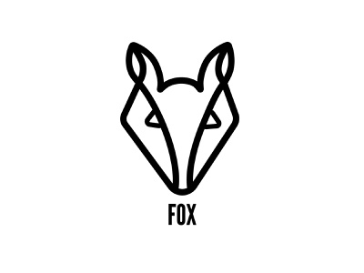 Fox black white fox illustration illustration woodland fox