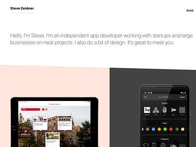 Portfolio android ipad portfolio mobile app website