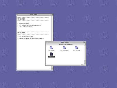 Notes (Mac OS 9) textedit notes apple macos9 macinstosh uxdesign uidesign ux ui ux design ui design vintage 90s