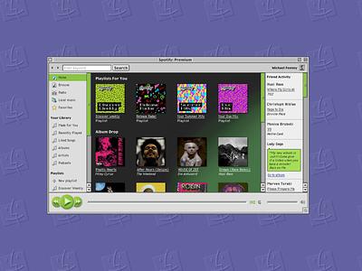 Spotify (Mac OS 9) spotify apple macos9 macinstosh uxdesign uidesign ux ui ux design ui design vintage 90s