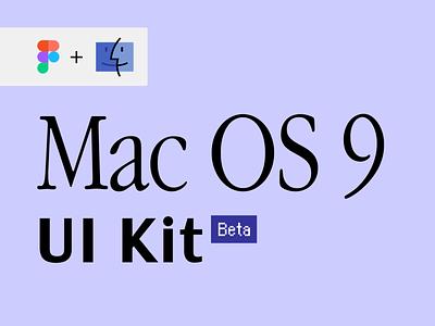 Mac OS 9: UI Kit components ui components library ui kit apple macos9 macinstosh uxdesign uidesign ux ui ux design ui design vintage 90s