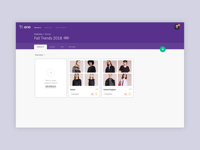 GRID CMS  – Details Panel purple collapse expand interaction design interaction branding content content management content management system cms detail panel details panel details