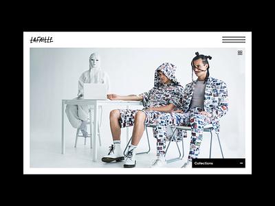 Lafaille - Website expandable nav lafaille montreal fashion web  design website