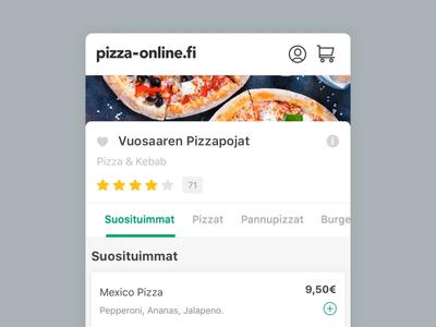 Pizza-Online - Mobile Restaurant Menu
