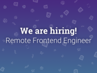 We are Hiring! Remote Frontend Engineer