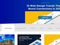 Blog listing page designs
