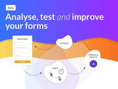 We are in Beta testing! :) optimisation lead generation lead form process branding ux icons design gradient flat illustration web ui