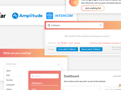 Fallback UI for upcoming article ux icon form process vector icons gradient flat illustration web ui