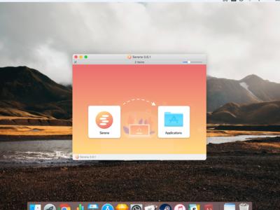 Serene Installation Background sereneapp web branding icons design gradient illustration applications desktop macos app background