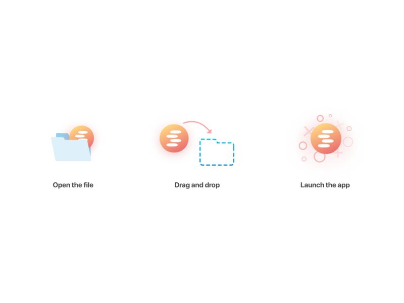 Installation Steps sereneapp website branding logo app vector design ui web icons illustration icon