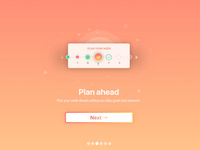 Serene Pro let's you start planning ahead app vector design icons gradient illustration ui
